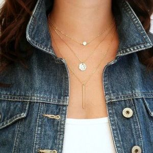 Jewelry - Delicate Gold Layered Necklace   Dainty Choker